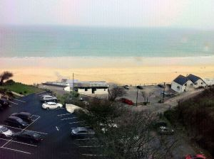 St Ives beaches seen from the train