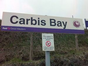 Carbis Bay nameboard