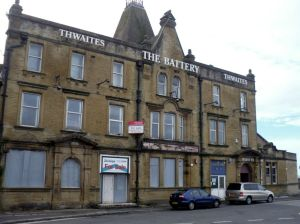 Morecambe Battery Pub boarded up