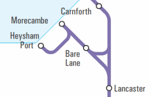 Northern Rail network map