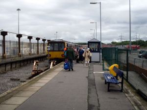 Passengers disembark at Heysham Port