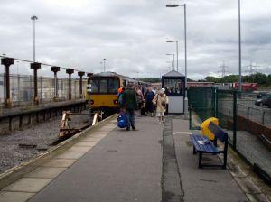 Passengers disembark at Heysham Port