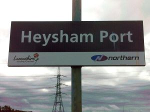 Heysham Port sign