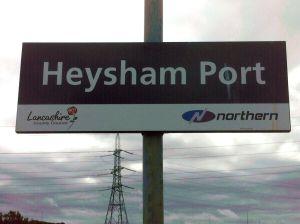 Heysham Port sign