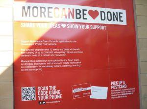 """""""Morecanbedone"""" poster"""