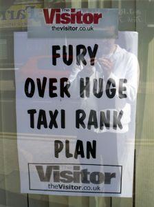 FURY OVER HUGE TAXI RANK PLAN