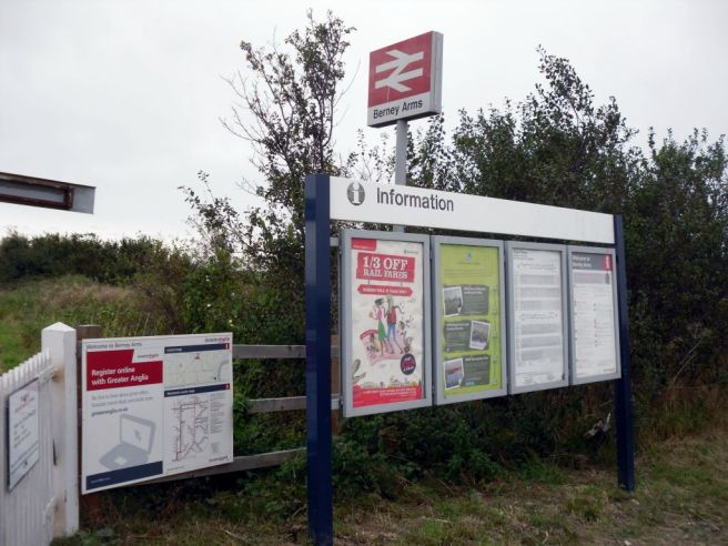 Entrance to Berney Arms station