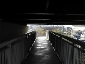 Angel Road station exit underpass