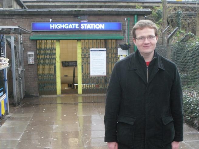 Robert at Highgate tube station
