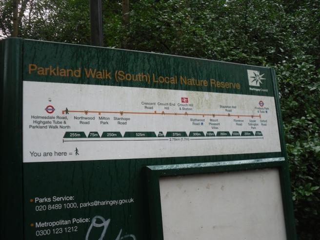 Parkland Walk sign