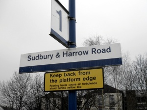 Sudbury & Harrow Road Sign