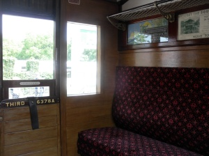 Interior of Isle of Wight Steam Railway carriage