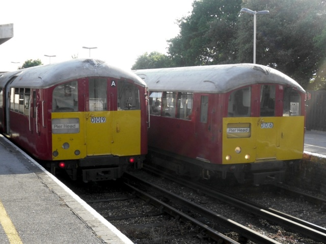 Island Line trains at Sandown