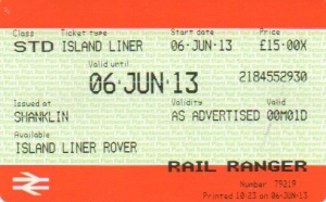 Island Liner day ticket