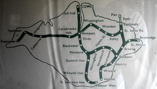 Isle of Wight Historic Rail Map