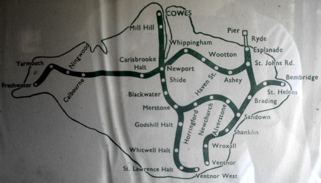 Isle of Wight Historic Rail Map