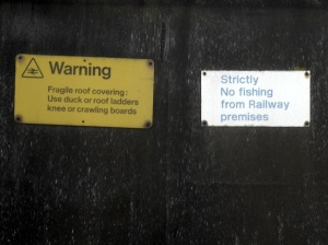 Strictly no fishing from Railway premises