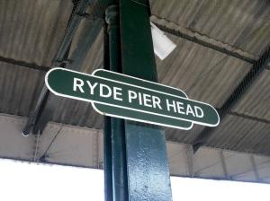 Ryde Pier Head nameboard