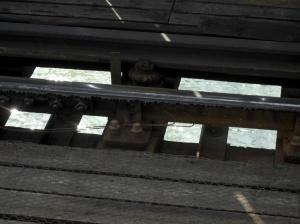 Water under tracks
