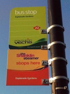 Shanklin Steamer bus stop