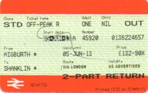 Ticket to Shanklin