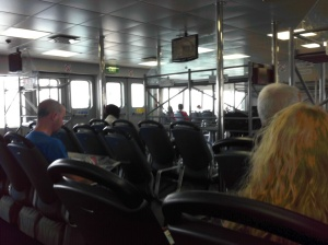 On board the WightLink ferry