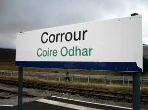 Corrour nameboard