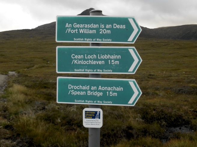 Distance sign