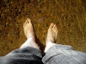 Feet in Loch Laidon