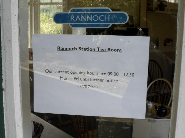 Tea Room open mornings only