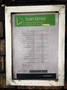 Bordesley train times