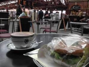 Coffee and Bagel at Moor Street