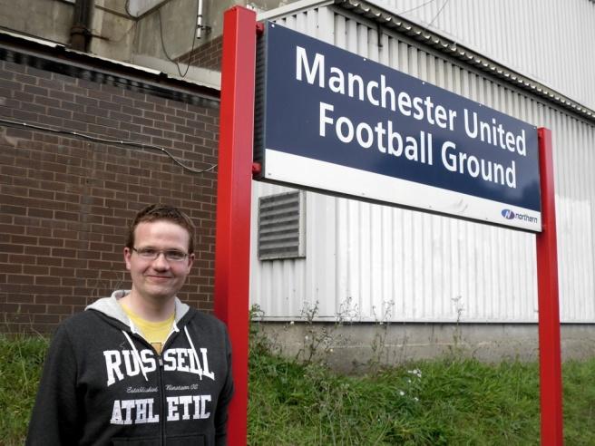 Robert at Manchester United Football Ground