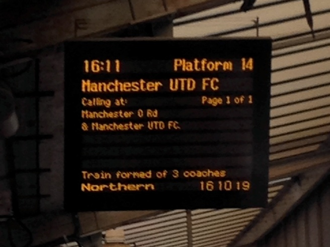 Manchester Utd FC on the boards at Piccadilly