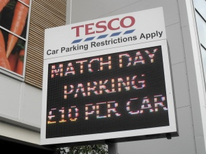 Tesco Match Day Parking