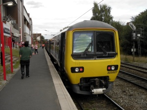 Train at Manchester United Football Ground