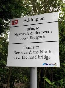 Acklington Entrance Sign