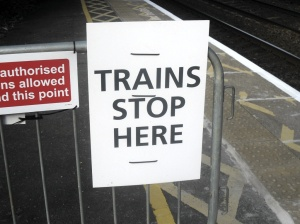 TRAINS STOP HERE