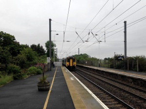Train departing Chathill