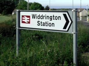 Widdrington Station sign