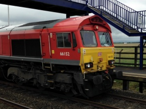 66152 passes through Teesside Airport
