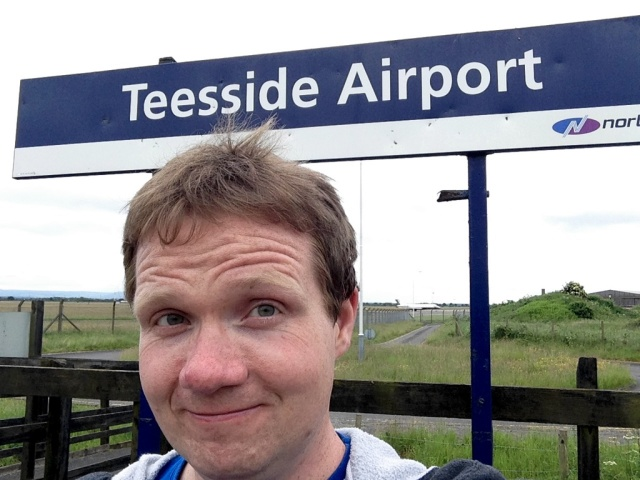 Robert at Teesside Airport