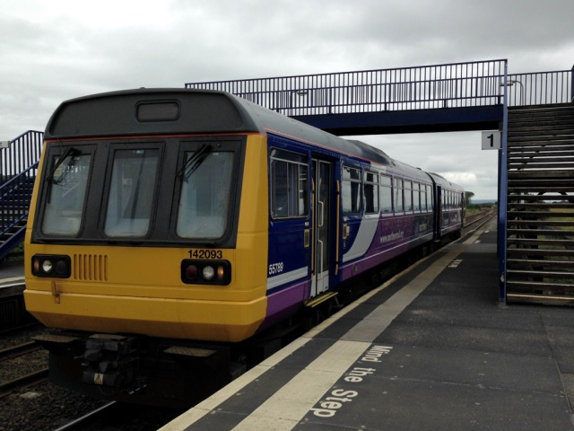 142093 arrives at Teesside Airport