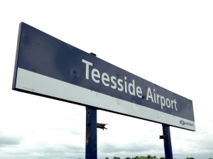 Teesside Airport sign