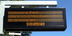 Helsby Customer Information System showing Ellesmere Port train