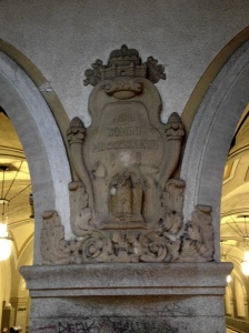 Carved crest at Heidelberger Platz
