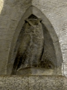 Owl carved at Heidelberger Platz