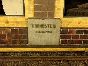 Hohenzollernplatz Grundstein
